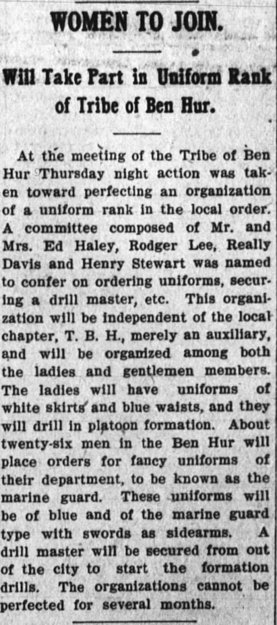 Really Davis The Huntington Herald (Huntington, Indiana) 11 January 1907 Page 1 -