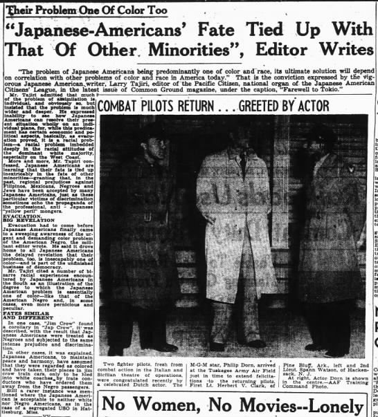 "Writer argues that Japanese Americans' problem is ""one of color and race"" -"