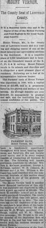 Farmers Bank of Mount Vernon -
