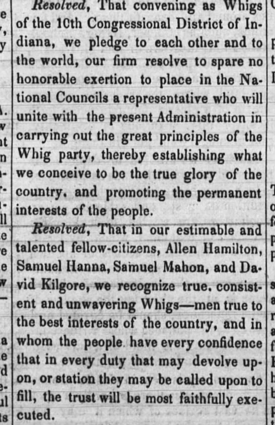 Allen Hamilton Congressional Candidate newspaper -