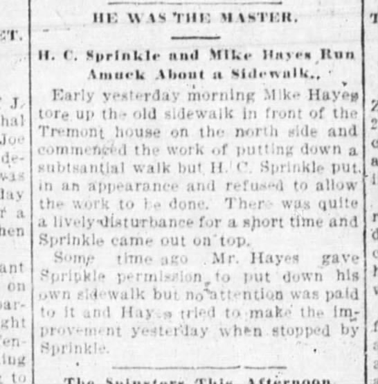 Michael Hayes in Springfield Republican 8 June 1897 pg 5 -