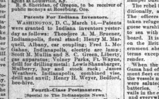 henry weyer 1894 patent