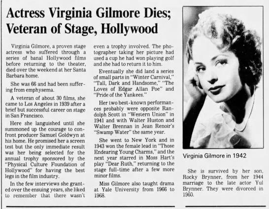 Virginia Gilmore -