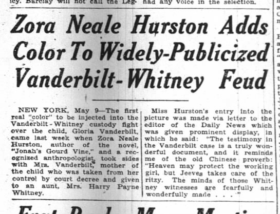 Zora in gossip, Pittsburgh Courier, 11 May 1935 -