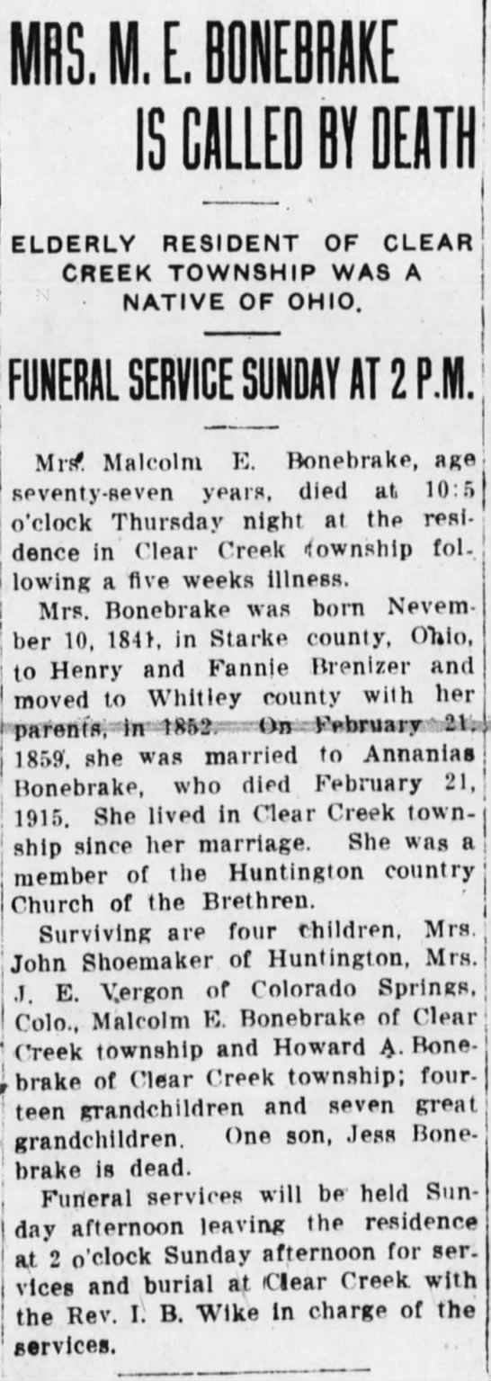 The Huntington Herald, May 23, 1919, page 1 -