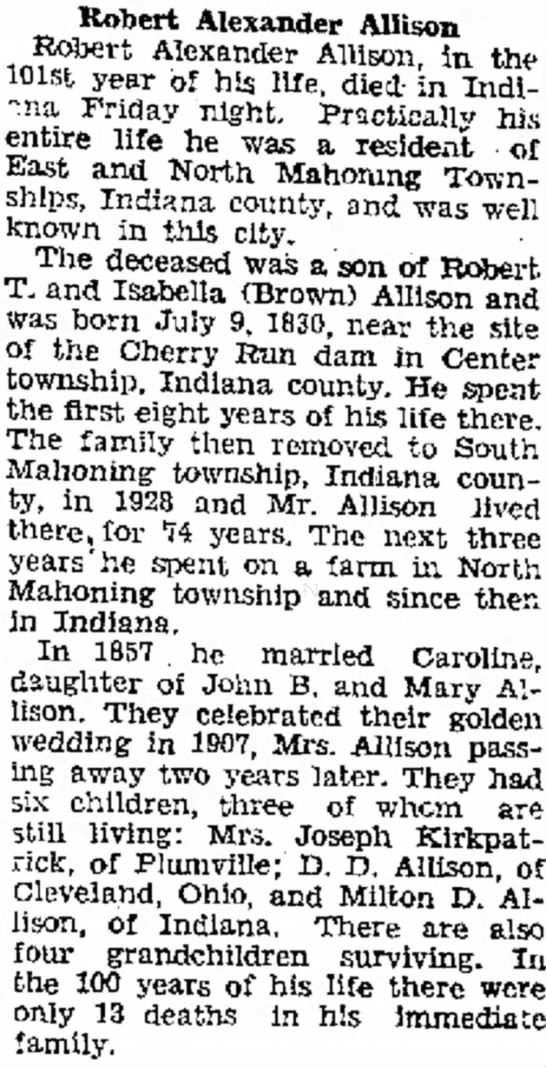 Robert A Allison obituary-Simpson's Leader-Times-11Feb1931 -
