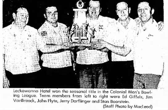 Pocono Record.June 1969. Colonial Mens Bowling -