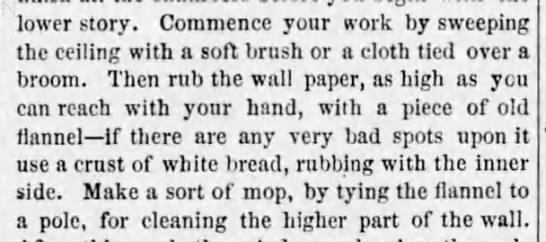 Spring cleaning for walls and ceiling (1869) -