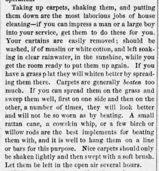 Cleaning carpets (1869) -