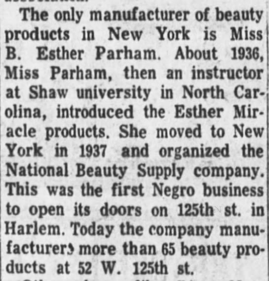 The only manufacturer of beaty products in New York... -