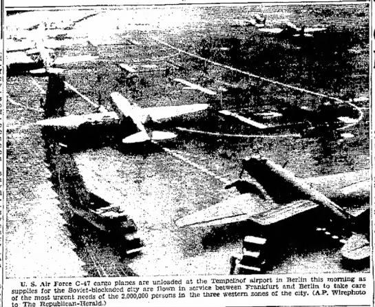 U.S. Air Force C-47 cargo planes -