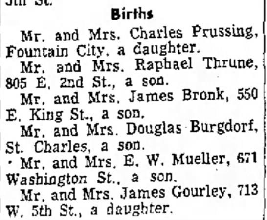 James Gourley & Caroline Kleist, daughter. -