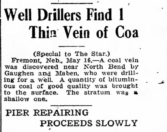 - Well Drillers Find 1 Thin Vein of Coa (Special...