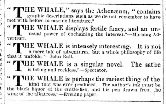 "- THE WHALE,"" says the Athenaeum, ""contains..."