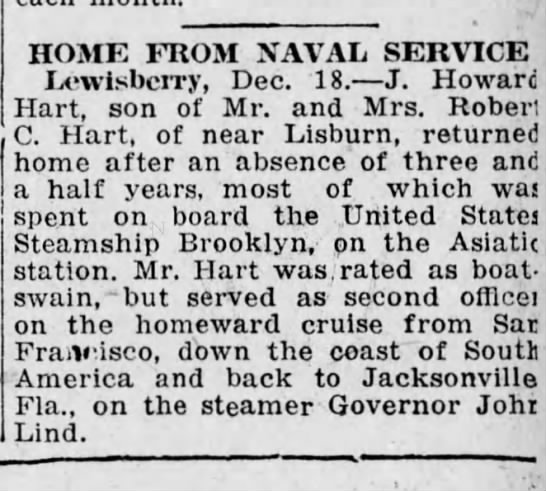 - HOME FROM NAVAL SERVICE Lowisbcrry, Dec. 18. J....