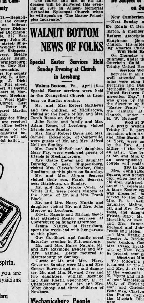 1922 April 18 Hbg Telegraph -