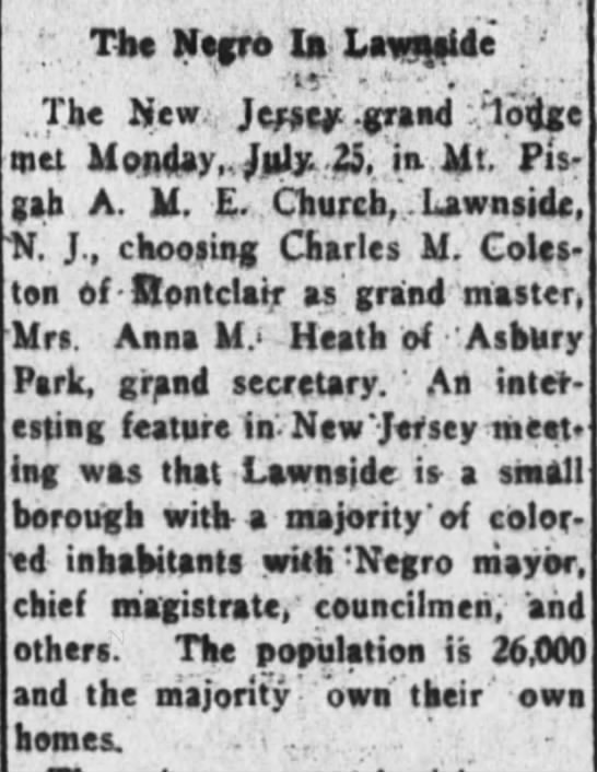 The Negro in Lawnside - The New York Age