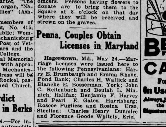 """1920 May 24 Harrisburg Telegraph - """"The organ, """"National Allies"""" (Ash - members of..."""