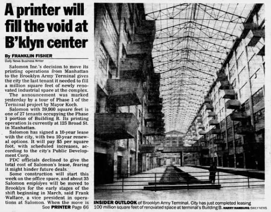 A printer will fill the void at B'klyn center -