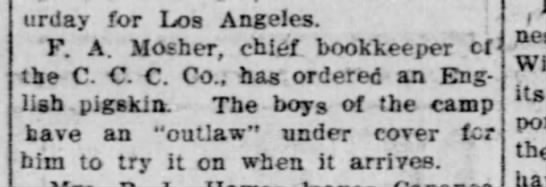 Mosher, F. A.
