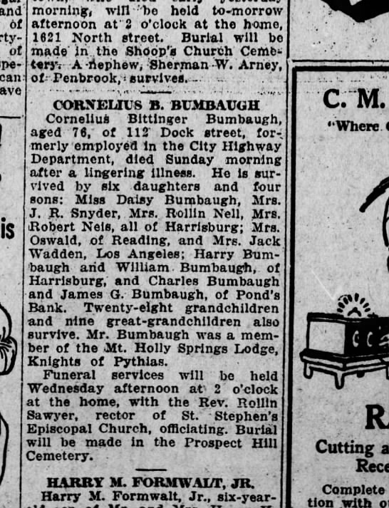 1924 January 28 Harrisburg Telegraph -