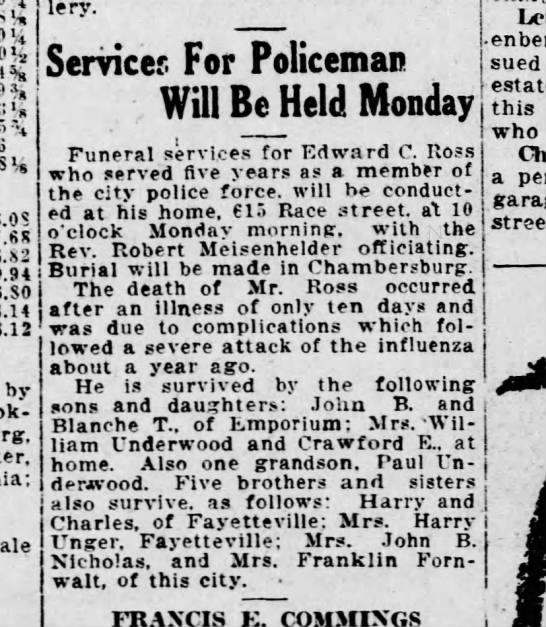 1921 June 3 Harrisburg Telegraph -