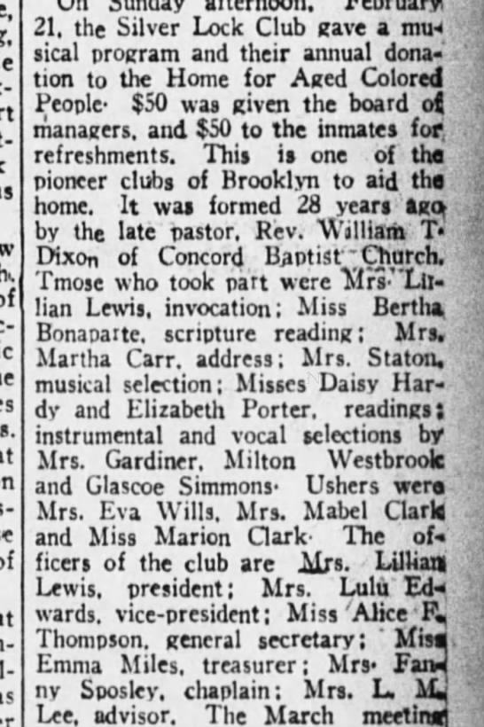 Emma Miles also member of the Silver Lock Club - Newspapers com