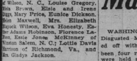 Essie Jones McKinney  guest at wedding -