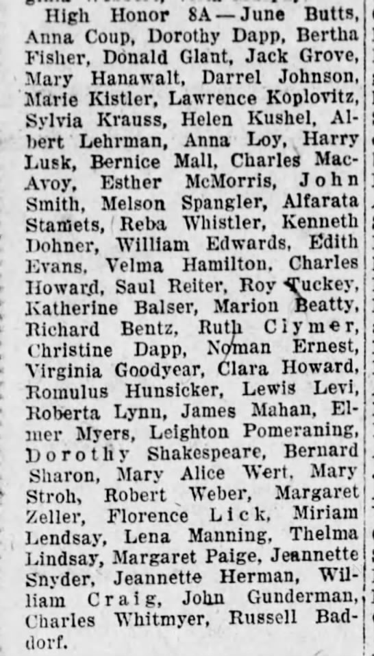 Camp Curtin 1927Lena Manning -