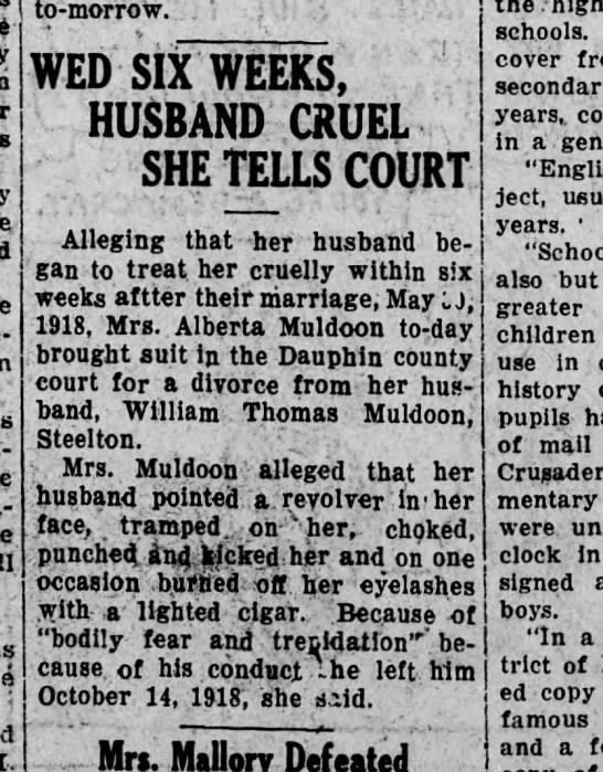 1927 August 26 Alberta Muldoon -