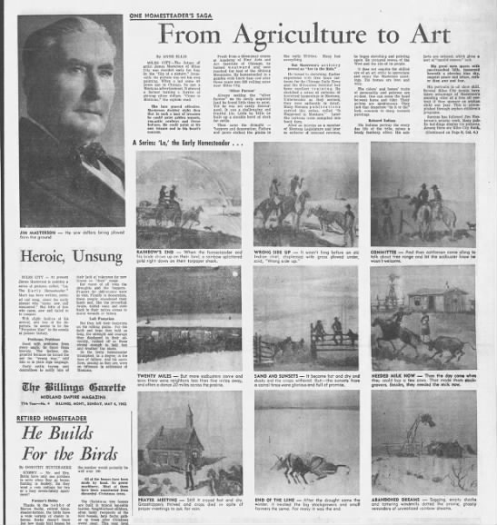 "MASTERSON, JAMES ""From Agriculture to Art"" 1962 -"