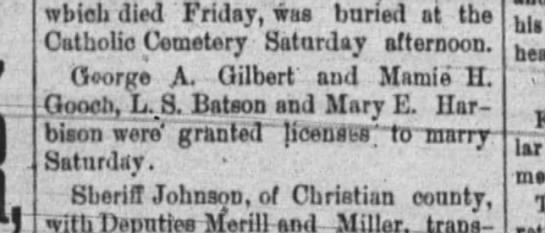 George Gilbert8-23-1887 -