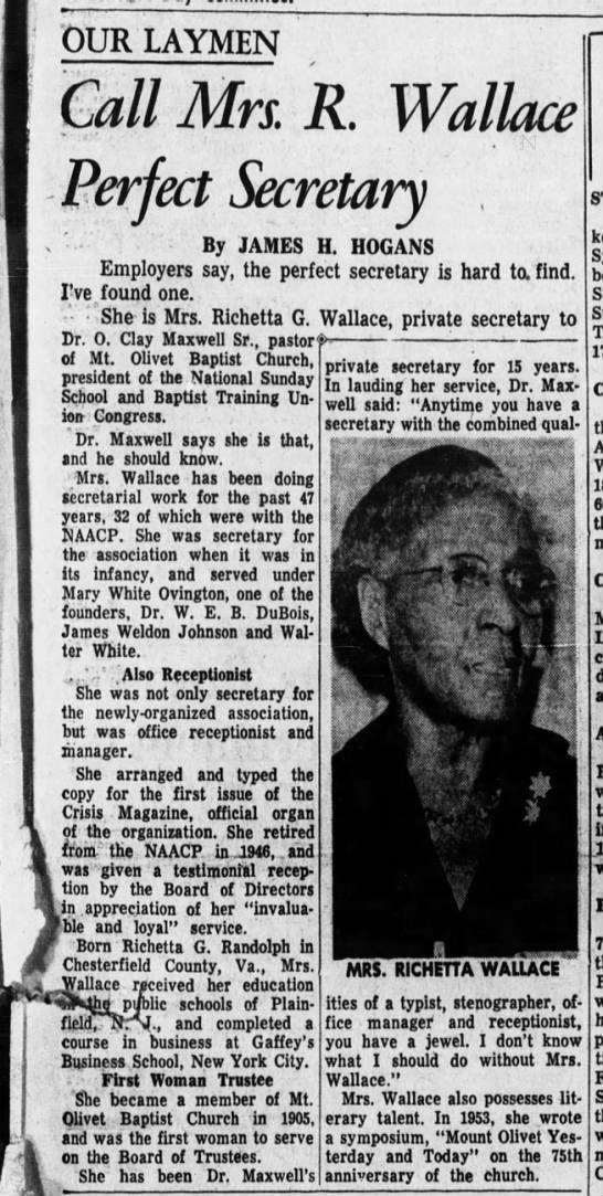 Richetta Randolph Wallace 1959 -