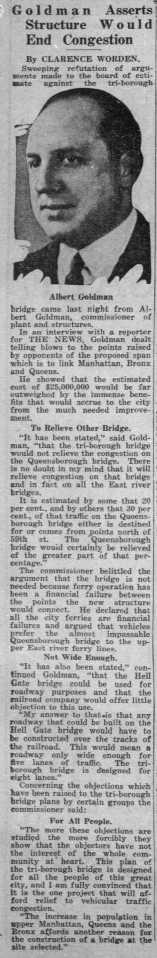 Triborough Bridge Objections Refuted -