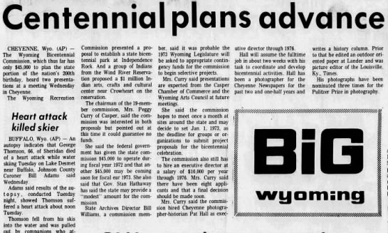 Centennial plans advance, The Billings Gazette (Billings, Montana) 13 Jul 1972, page 25 -