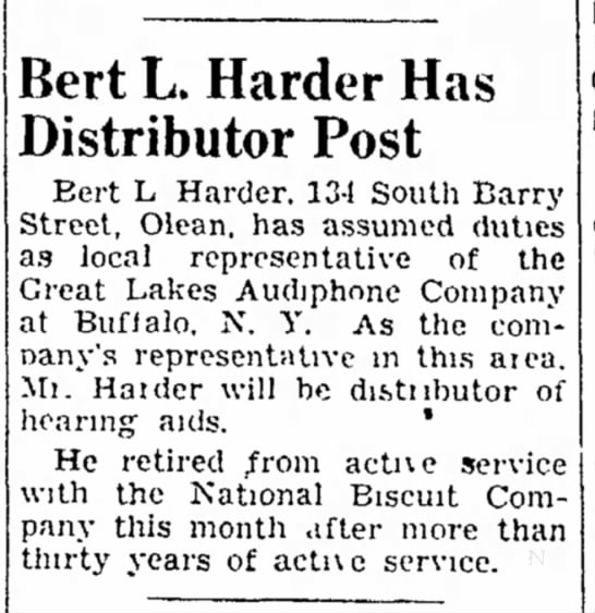 of L Bert Harder distributor becomes aids hearing wxI6OqRf6