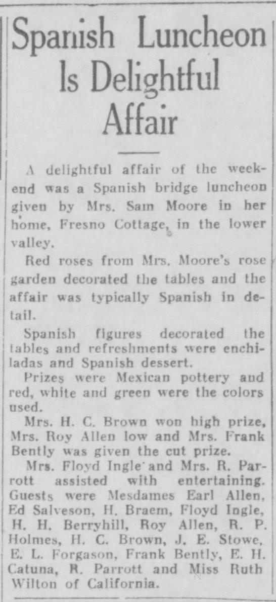 1929-09-02-06 H. Braem - Spanish Luncheon Is Delightful Affair | j | i j...