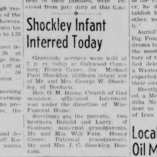 Shockley infant research needed bdf 6-11-51 -