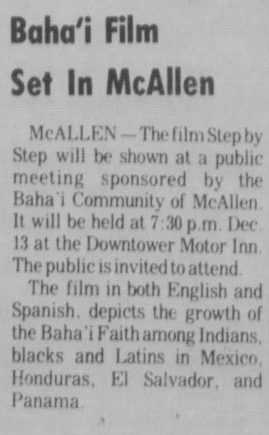 """Baha'i meeting with film by """"Step by Step"""" -"""