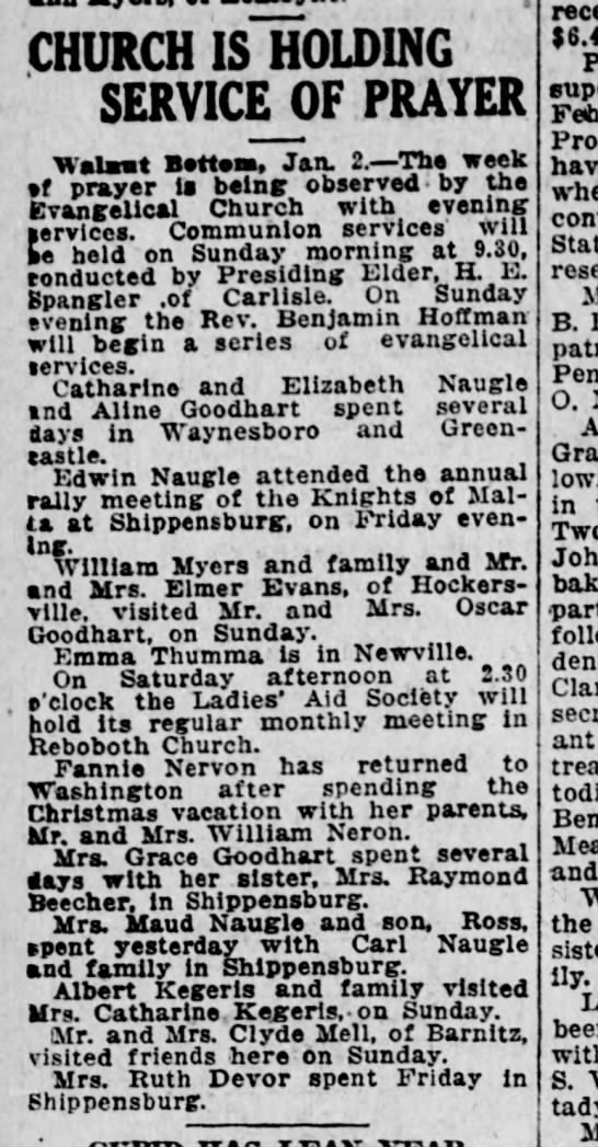 1923 January 2 Hbg Telegraph -