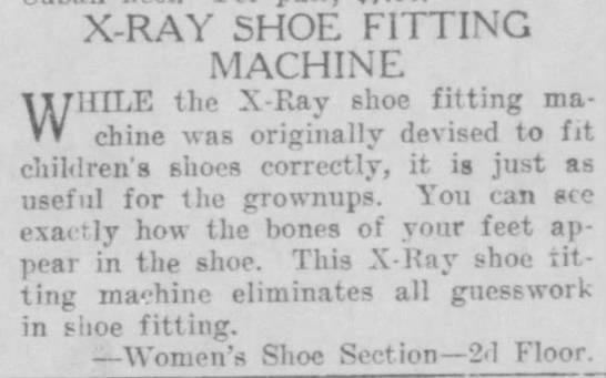 X-ray shoe fitting machine (1923) -