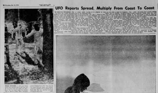UFO Reports Spread - VMS Oct 18 1973 -