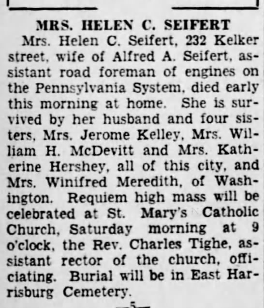 Helen C McClintlock_Harrisburg_Telegraph_16 Jan 1929 -