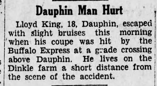 - Dauphin Man Hurt ' Lloyd King, 18, Dauphin,...