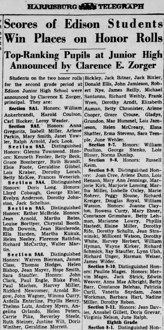 1938 Winona and Rowena Curry garner high honors -