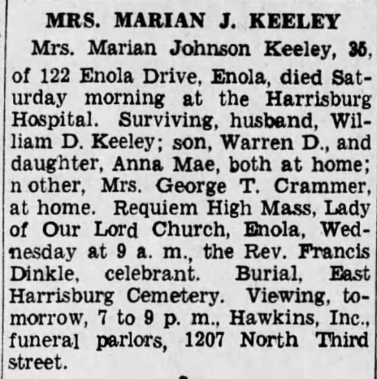 Keeley.Marian OBIT/attached to tree -