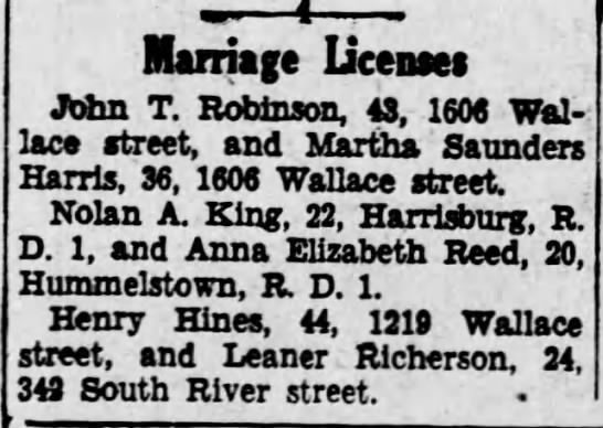 Marriage Licenses -