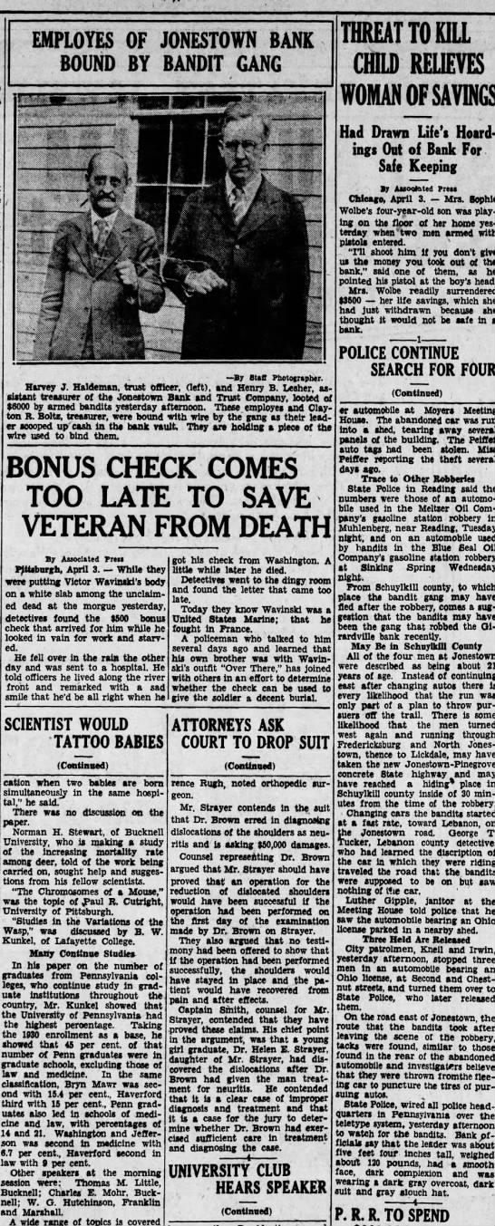 1931 April 3 Harrisburg Telegraph pt. 2 -