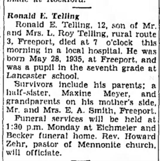 Ronald Telling death -