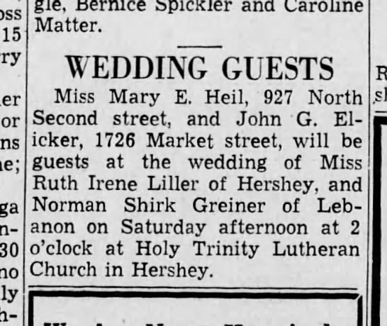1937 June 24 Norman Greiner wed -